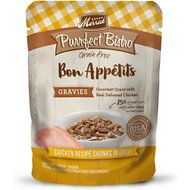 Merrick Purrfect Bistro Bon Appetits Grain-Free Chicken Recipe Chunks in Gravy Adult Cat Food Pouches, 3-oz, case of 24