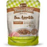 Merrick Purrfect Bistro Bon Appetits Grain-Free Turkey Recipe Chunks in Gravy Adult Cat Food Pouches, 3-oz, case of 24