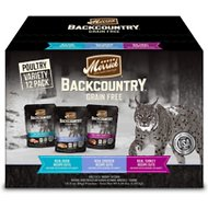 Merrick Backcountry Grain-Free Morsels in Gravy Real Duck, Chicken, Turkey Recipe Cuts Variety Pack Cat Food Pouches , 3-oz, case of 12