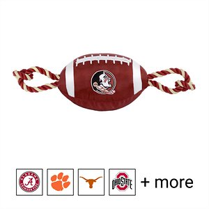 Pets First NCAA Football Rope Dog Toy, Florida State