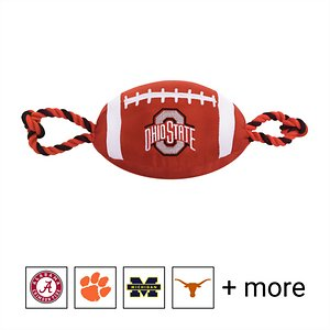 Pets First NCAA Football Rope Dog Toy, Ohio State