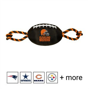 Pets First NFL Football Rope Dog Toy, Cleveland Browns