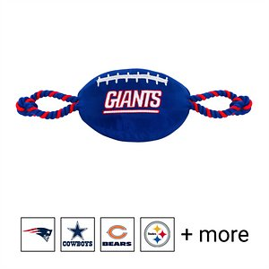 Pets First NFL Football Rope Dog Toy, New York Giants