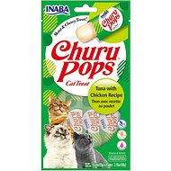 Inaba Churu Pops Moist & Chewy Tuna with Chicken Recipe Lickable Cat Treats