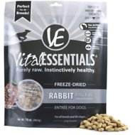 Vital Essentials Rabbit Entree Mini Nibs Grain-Free Freeze-Dried Dog Food, 14-oz bag