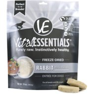 Vital Essentials Rabbit Entree Mini Patties Grain-Free Freeze-Dried Dog Food , 14-oz bag