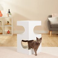 Frisco 28-in 2-Story Modern Cat Condo, White