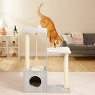 Frisco 41-in Modern Cat Tree & Condo
