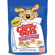 Canine Carry Outs Pork Chop Minis Pork Flavor Dog Treats, 25-oz bag