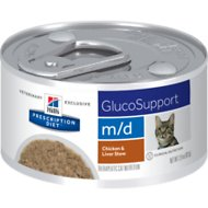 Hill's Prescription Diet m/d GlucoSupport Chicken & Liver Stew Canned Cat Food, 2.9-oz, case of 24