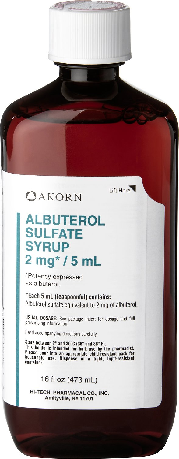 ALBUTEROL Sulfate (Generic) Syrup, 2 mg/5mL, 16-oz - Chewy.com