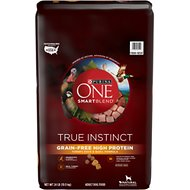 Purina ONE Smartblend True Instinct Turkey, Duck & Quail Grain-Free Dry Dog Food, 24-lb bag