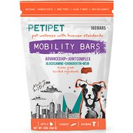 PETIPET Mobility Bars Hip & Joint Pain Relief Dog Supplement, 180 count