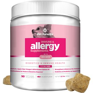 Pet Parents Immune & Allergy Relief Salmon Flavored Dog Supplement, 90-count