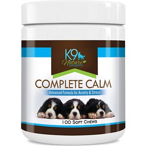 K9 Nature Supplements Complete Calm Dog Anxiety Relief Chicken Flavor Dog Supplement, 100-count