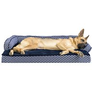 FurHaven Plush & Decor Comfy Couch Memory Top Sofa-Style Pet Bed, Diamond Blue, Jumbo