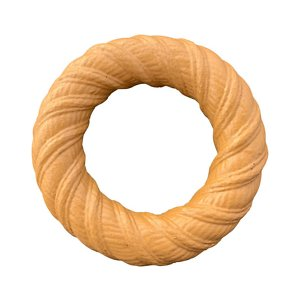 Pet Qwerks BarkBone Peanut Butter Flavor Chew Ring Tough Dog Chew Toy, Large