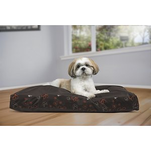 FurHaven Indoor/Outdoor Garden Deluxe Cat & Dog Bed w/Removable Cover, Bark Brown, Medium; FurHaven's Garden Indoor/Outdoor Deluxe Deluxe Pillow Pet Bed allows your paw-tner to not only rest comfortably indoors, but outdoors too! Designed with a beautiful, high-loft floral gusset, this bed is available in four different colors and sizes, so you can find the best fit for your home and your furry friend. It's covered with water-resistant coated poly-canvas to help protect the inside materials from moisture and is filled stuffed with insulating, recycled polyester fiber fill for maximum comfort.