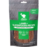 Billy + Margot Single Animal Protein Lamb & Superfoods Grain-Free Dog Treats, 3.75-oz pouch