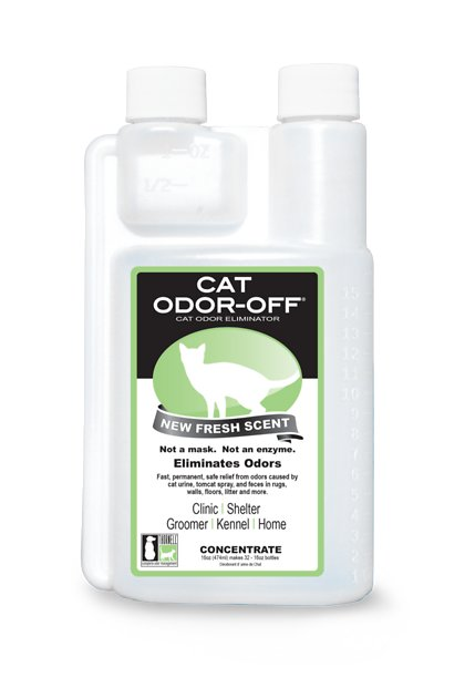Thornell Cat Odor-Off Fresh Scent Concentrate, 16-oz bottle - Chewy com