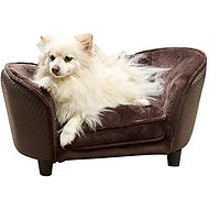 Enchanted Home Pet Ultra-Plush Snuggle Sofa Cat & Dog Bed w/Removable Cover, Small