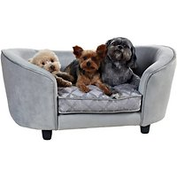 Deals on Enchanted Home Pet Quicksilver Sofa Cat & Dog Bed w/Cover