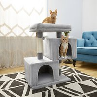 Deals on Frisco 33-in Faux Fur Cat Tree & Condo