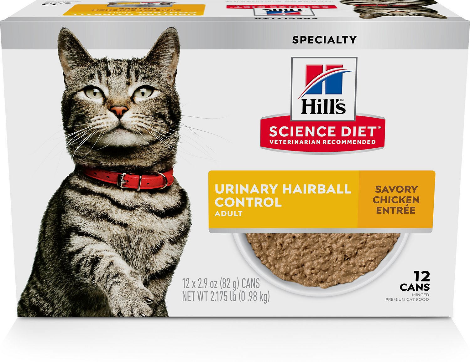 hills science diet cat food hairball control