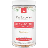 Dr. Lyon's Hip & Joint Large Breed Soft Chew Dog Supplement, 72 count