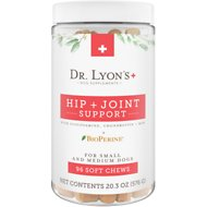 Dr. Lyon's Hip & Joint Small and Medium Dog Soft Chew Supplement, 96 count