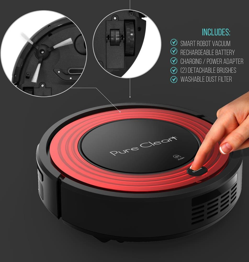 Pure Clean Automatic Programmable Robot Vacuum Cleaner