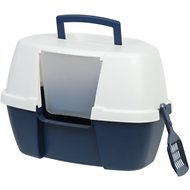 IRIS Large Hooded Corner Litter Box