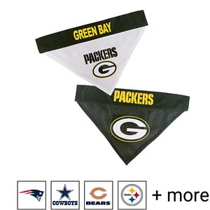 Pets First NFL Reversible Dog Bandana, Green Bay Packers, Large/X-Large