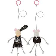 Frisco Dapper and Flapper Bouncy Mouse Cat Toy, 2 pack