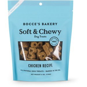 Bocce's Bakery Soft & Chewy Chicken Recipe Dog Treats, 6-oz bag