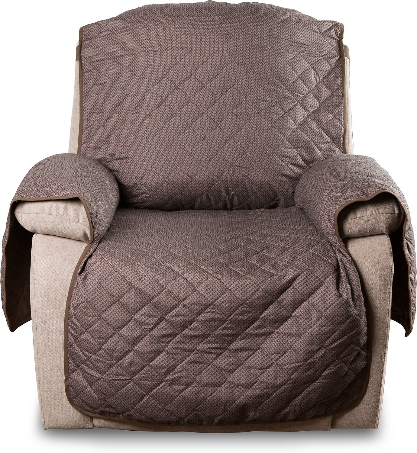 Incredible Bone Dry Reversible Recliner Cover Chocolate Print Pabps2019 Chair Design Images Pabps2019Com