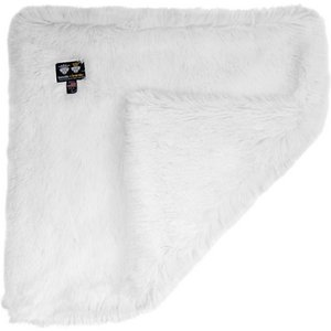 Bessie + Barnie Luxurious Dog Blanket, White, Large; Show your dog how paw-some life can be with the Bessie And Barnie Luxurious Dog Blanket. Made from two special types of plush fabric similar to fleece, this reversible blanket will wrap your dog in cozy opulence year-round. It's also durable enough to be 100% machine washable and the colors won't fade over time. Great for dogs who love to nap around the house or are in need of a little extra comfort while traveling, the Bessie And Barnie Luxurious Dog Blanket is the paw-fect gift for your best friend.