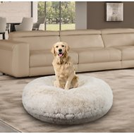 Bessie + Barnie Bagel Bolster Dog Bed w/Removable Cover
