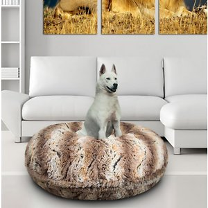 Bessie + Barnie Bagel Bolster Dog Bed w/Removable Cover, Simba, Small; The Bessie And Barnie Bagel Dog Bed will turn any area of your home into your dog's new favorite nap spot. Made from luxurious and plush fabrics, your dog will feel like royalty every time he curls up to catch some Z's.  And with plenty of size and color options to choose from, you can be sure to find the right look for your home décor. Handmade by skilled artisans in the USA, this high-quality bed is both stylish and durable. It also features a waterproof pillow liner and machine washable covers. Plus, the 360-degree zipper design makes it super easy to remove the cover when it's cleaning time. Pamper your pupper today with the Bessie And Barnie Bagel Dog Bed.