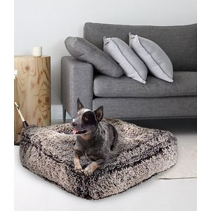 Bessie + Barnie Sicilian Rectangle Pillow Dog Bed w/Removable Cover, Frosted Willow, Small; The Bessie And Barnie Rectangular Dog Bed is the paw-fect way to pamper your pooch at naptime. This incredible bed features five large pillows that evenly distribute the weight of your pet across the bed to prevent uncomfortable craters. Constructed using super-soft fabrics that are as soft and cuddly as your best friend, the rectangular shape makes this bed easy to place in any corner of your home. And when it comes to cleaning, the cover easily unzips and can be tossed in your household washer.