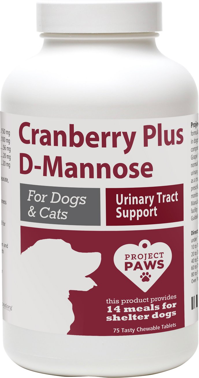 Project Paws Cranberry Plus D Mannose Urinary Tract Support
