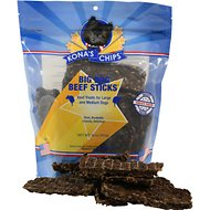 Kona's Chips Big Dog Beef Sticks Dog Treats, 16-oz bag