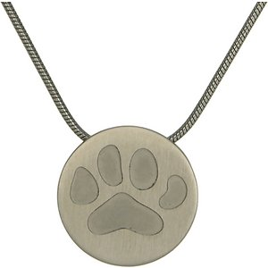 A Pet's Life Round Paw Necklace