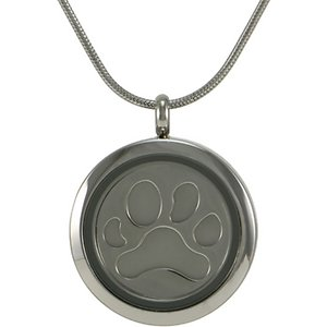 A Pet's Life Round Paw Inserts Necklace