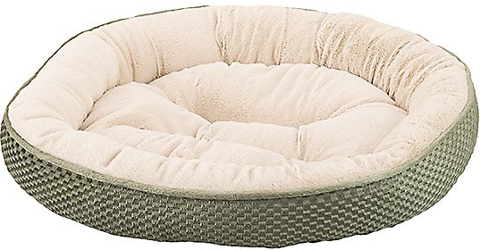 Ethical Pet Sleep Zone Checkerboard Napper Bolster Dog Bed Sage 20 In Chewy Com