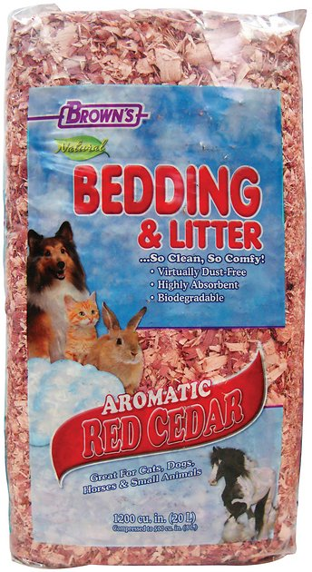Brown S Natural Aromatic Red Cedar Pet, Can Rabbits Have Red Cedar Bedding