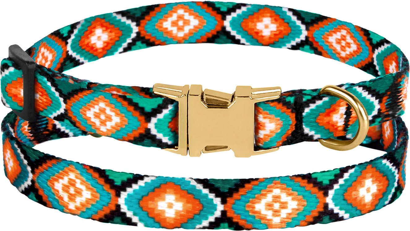 Colorful Aztec Print 1 inch Large Dog Collar