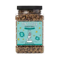 Tiny Tiger Crunchy Bunch, Fins of Fury, Seafood Flavor Cat Treats, 20-oz Jar