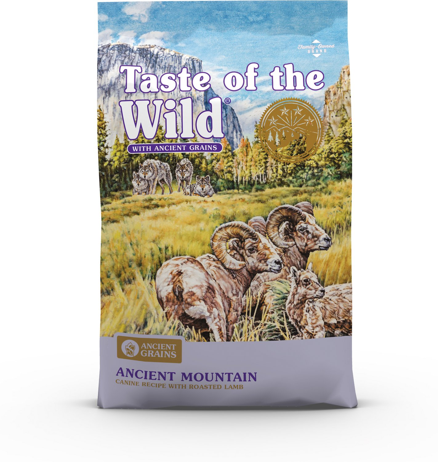 Taste Of The Wild Dog Food Reviews >> Taste Of The Wild Ancient Mountain With Ancient Grains Dry Dog Food 5 Lb Bag