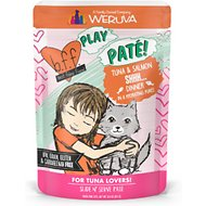 BFF Play Pate Lovers Tuna & Salmon Shhh Wet Cat Food, 3-oz pouch, pack of 12